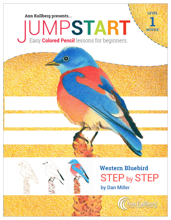 Jumpstart Level 1: Bluebird in Colored Pencil