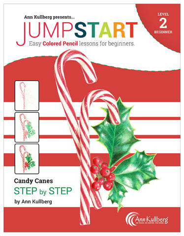Jumpstart Level 2: Candy Canes in Colored Pencil