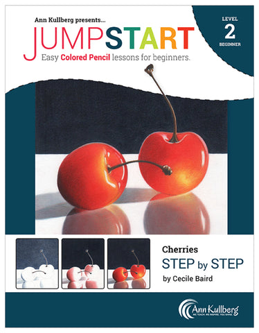 Jumpstart Level 2: Cherries in Colored Pencil
