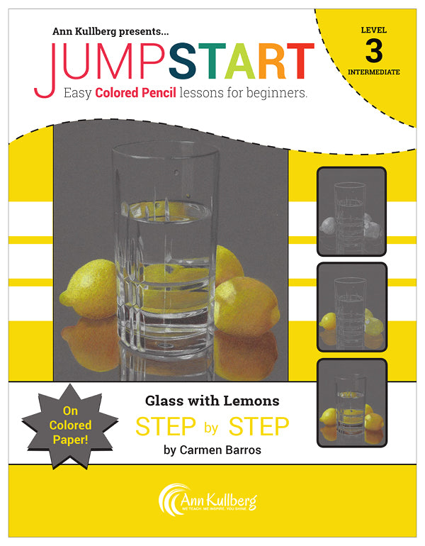 Jumpstart Level 3: Glass With Lemons on Colored Paper