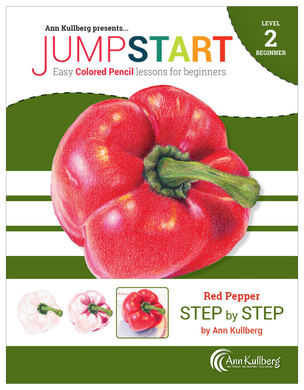 Jumpstart Level 2: Red Pepper in Colored Pencil