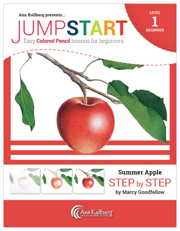 Jumpstart Level 1: Summer Apple in Colored Pencil