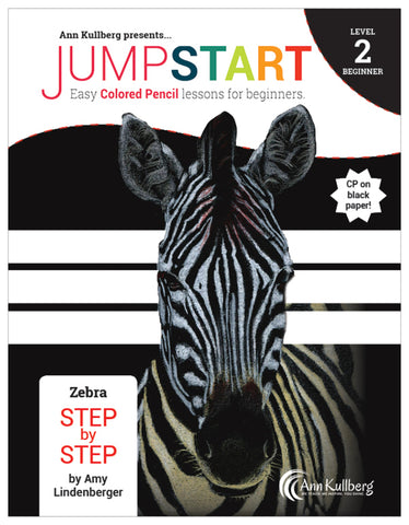 Jumpstart Level 2: Zebra in Colored Pencil