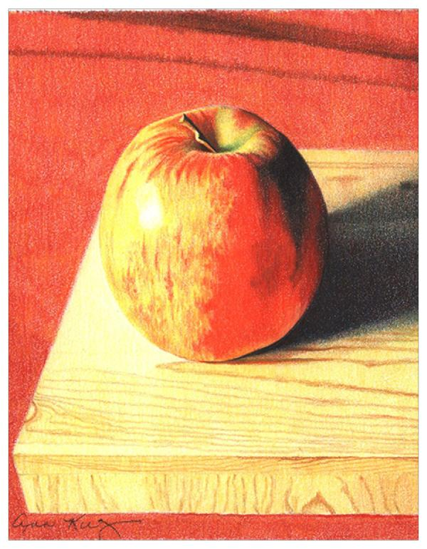 Apple & Wood Colored Pencil Project Kit