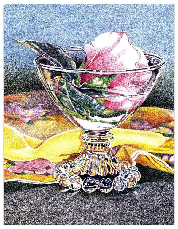 Glass & Flower Colored Pencil Project Kit