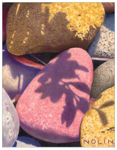 River Stones Colored Pencil Project Digital Download