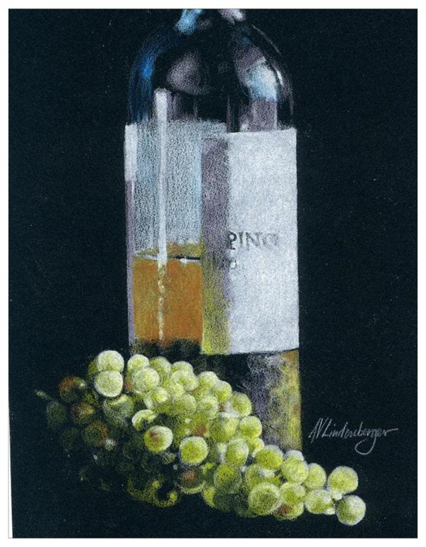 Wine & Grapes Colored Pencil Project Kit