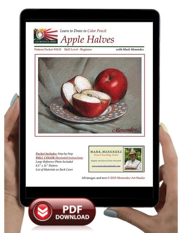 Mark Menendez: Apple Halves Colored Pencil Tutorial