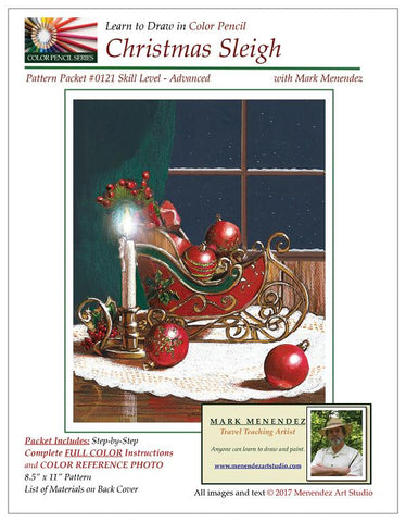 Mark Menendez: Christmas Sleigh Colored Pencil Tutorial