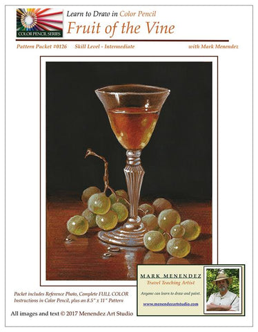 Mark Menendez: Fruit of the Vine Colored Pencil and Mixed Media Tutorial
