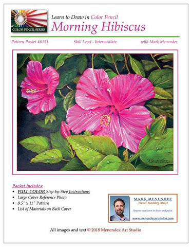 Mark Menendez: Morning Hibiscus Colored Pencil Tutorial