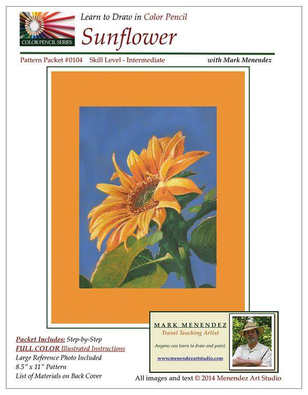 Mark Menendez: Sunflower Colored Pencil Tutorial