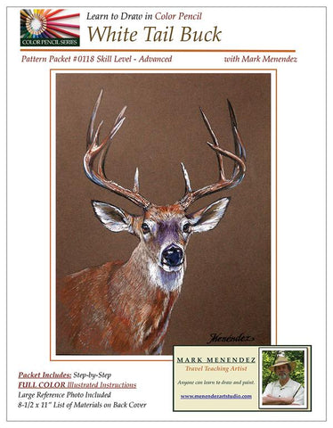 Mark Menendez: White Tail Buck Colored Pencil Tutorial