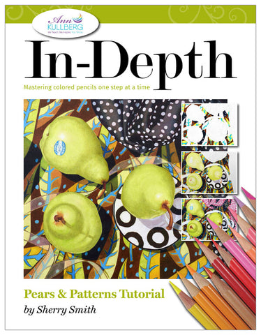 Pears & Patterns: In-Depth Colored Pencil Tutorial