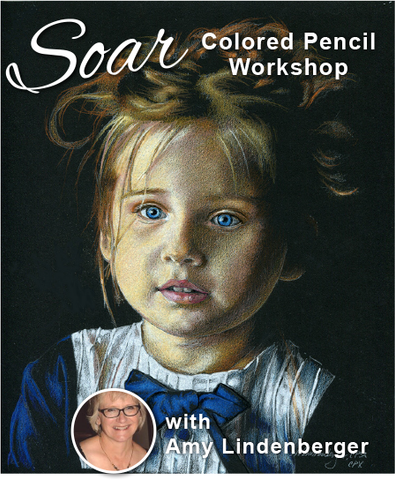 SOAR Workshop - Winsome Portrait on Black Paper - Spring Hill, FL