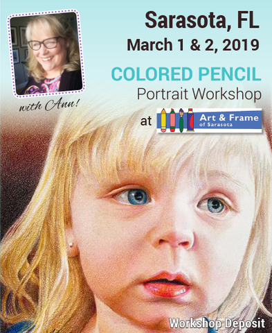 Sarasota 2-Day Colored Pencil Portrait Workshop Deposit