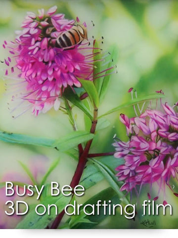 Busy Bee: 3D Colored Pencil Project Kit - Instant Download-Colored Pencil Project Kits-Ann Kullberg