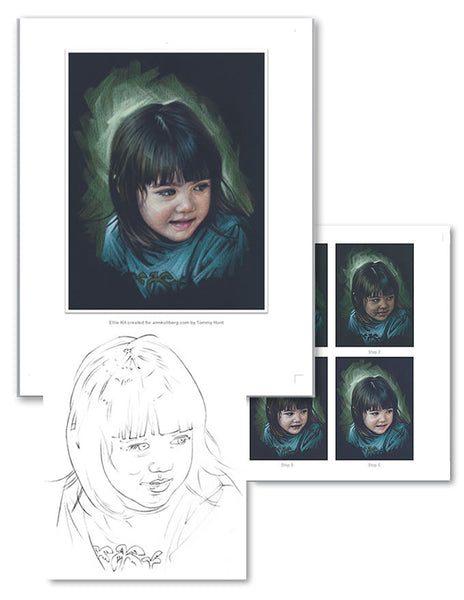 Ellie Colored Pencil Project Kit-Colored Pencil Project Kits-Ann Kullberg