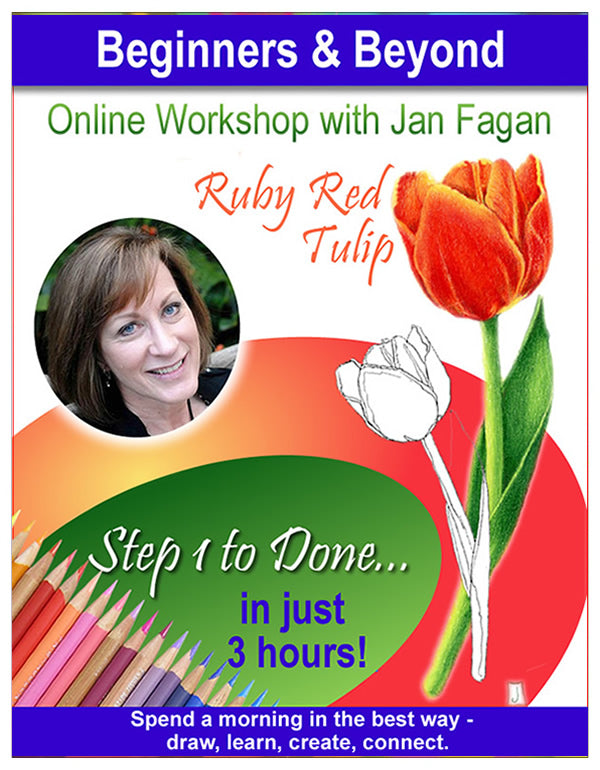 Ruby Red Tulip - Online Workshop for Beginners & Beyond with Jan Fagan