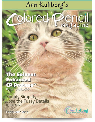 February 2014 - Ann Kullberg's Colored Pencil Magazine-Magazine-Ann Kullberg