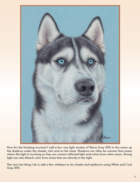 Husky: In-Depth Colored Pencil Tutorial-In-Depth Project Kits-Ann Kullberg