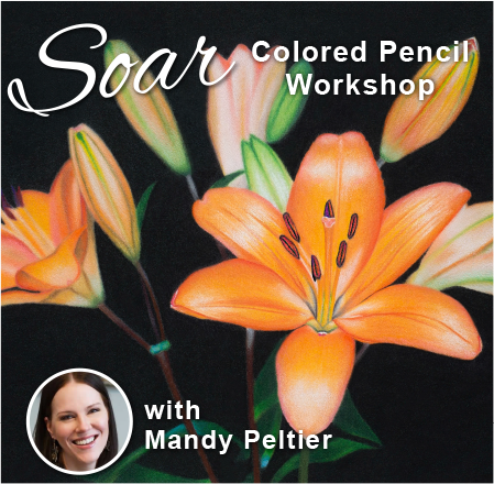SOAR Workshop - Vivid Lilies on Sanded Paper - Richmond, VA