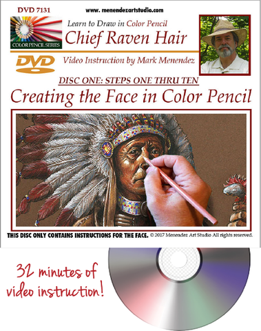 Mark Menendez: Chief Raven Hair DVD-Colored Pencil Project Kits-Ann Kullberg