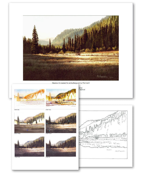 Meadow Colored Pencil Project Kit-Colored Pencil Project Kits-Ann Kullberg