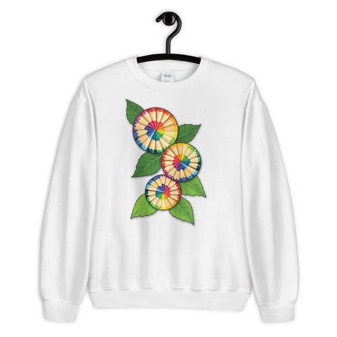 Colored Pencil Flowers Sweatshirt