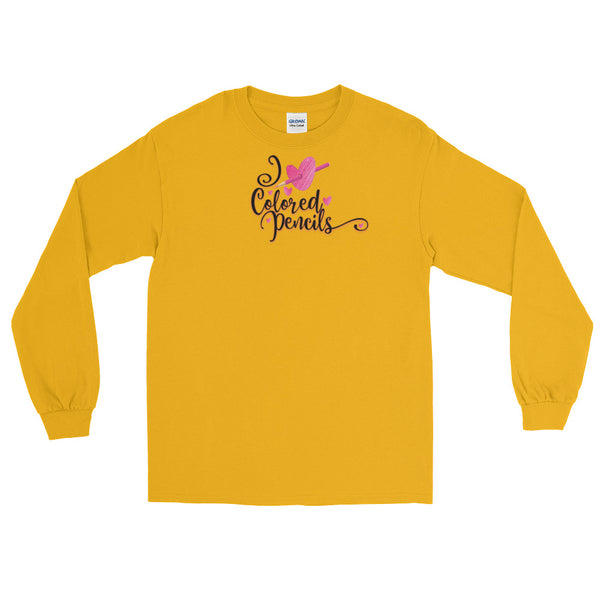 I Heart Colored Pencil Long Sleeve T-Shirt