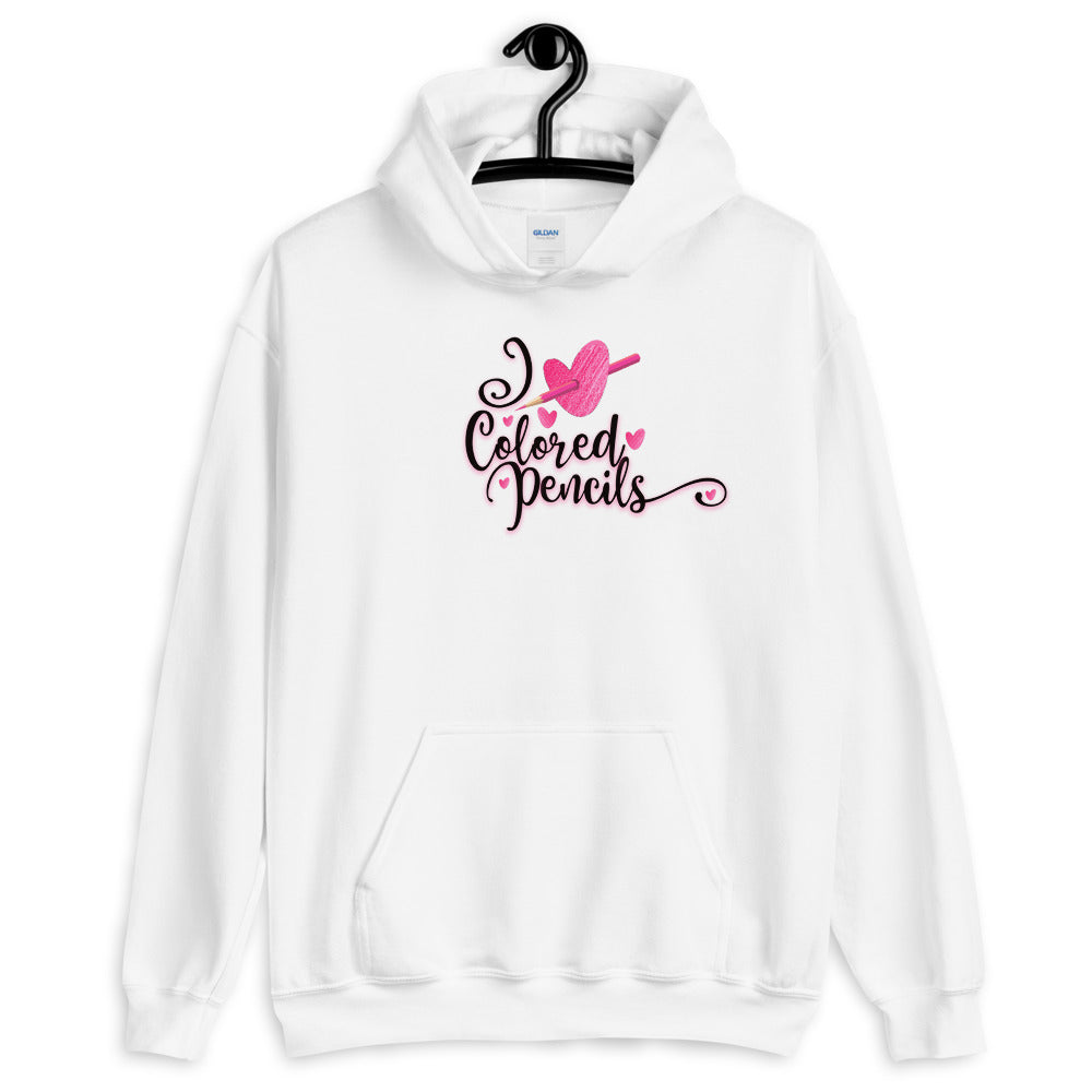 I Heart Colored Pencils Hooded Sweatshirt