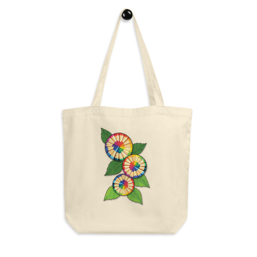 Colored Pencil Flowers Tote bag