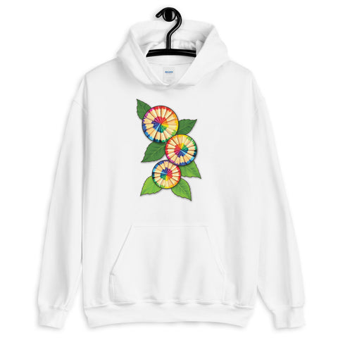 Colored Pencil Flowers Hooded Sweatshirt