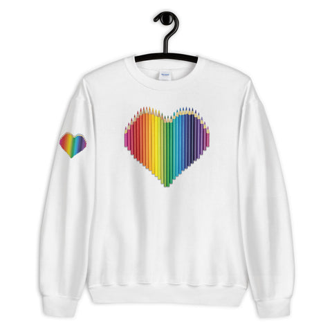 Colored Pencil Heart Sweatshirt