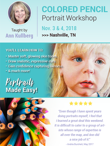 Portrait Workshop Deposit - Nashville, TN-Workshop Deposits-Ann Kullberg