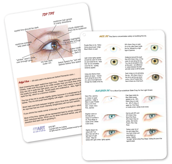 smART Card Eye Set - Portrait Guide-Portrait Tools-Ann Kullberg