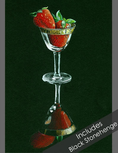 Strawberry Colored Pencil Project Kit-Colored Pencil Project Kits-Ann Kullberg