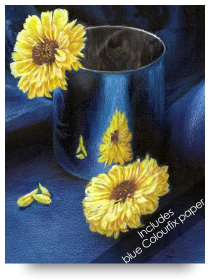 Yellow Mums Colored Pencil Project Kit-Colored Pencil Project Kits-Ann Kullberg