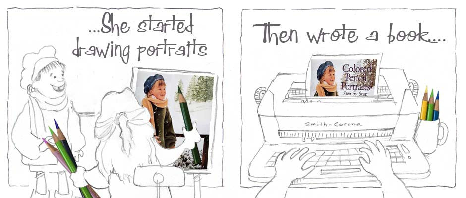 She started drawing portraits and then wrote a book.