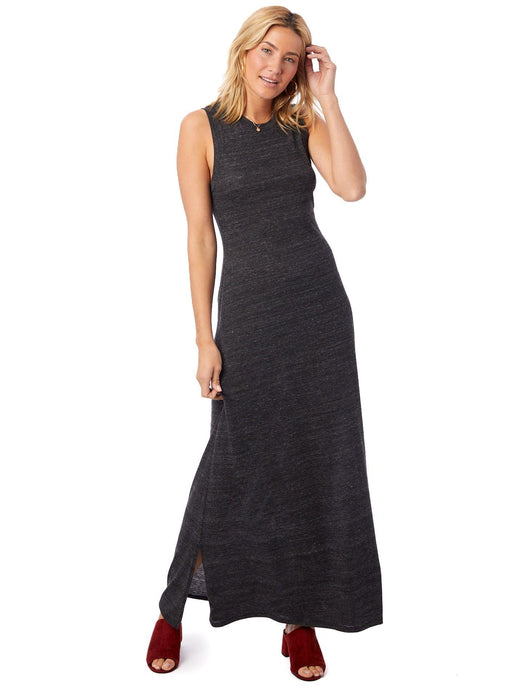 Eco-Jersey Side Slit Maxi Tank Dress : LIMITED