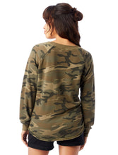 Nevertheless She Persisted Camouflage Burnout French Terry Pullover Sweatshirt