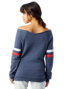 Off-Shoulder Slouchy Sweatshirt - Misfit is the Best Fit