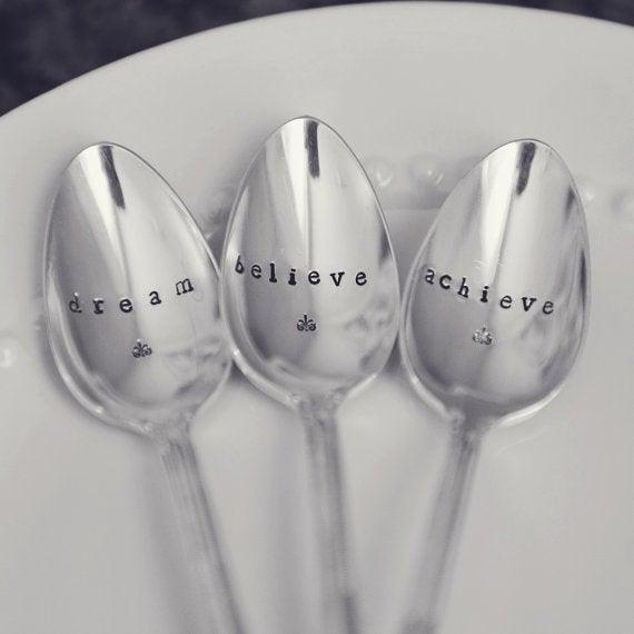 3 Hand-Stamped Teaspoon Set Uni-T