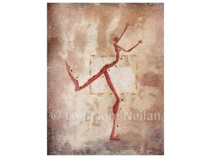 Dancer Art Prints of Original Contemporary Art Painting, Dancing Outside of Box, Giclee Print Uni-T