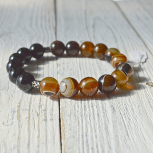 onyx-brown-agate-bracelet