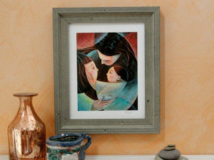 Mother & Children Giclee Print Uni-T