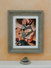 Modern decor, Abstract wall Art Prints, Giclee Print of Cubism Art by Eujin Kim Neilan, 8X10 Uni-T