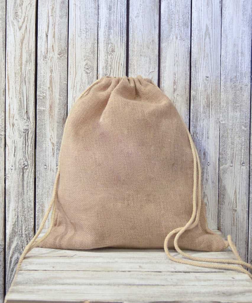 Jute/Burlap drawstring backpack Uni-T