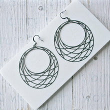 Matt Black Earrings Uni-T