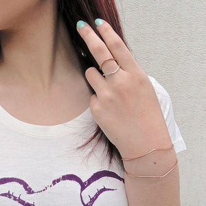 Adjustable Chevron Cuff Uni-T